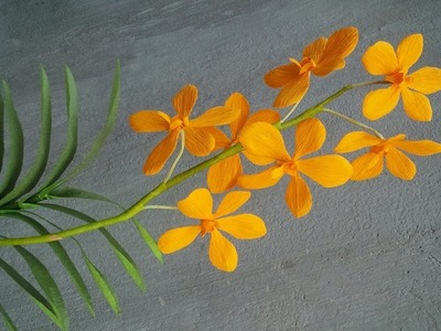 ABC TV | How To Make Buffalo Orange Mokara Orchid Paper Flowers From Crepe Paper - Craft Tutorial