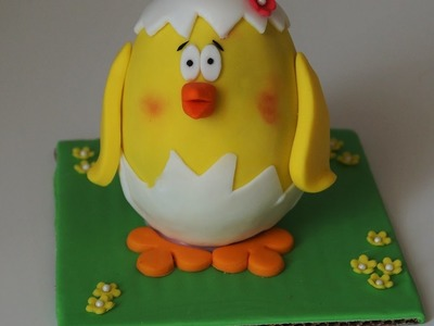 Cake decorating tutorials - how to make Easter chocolate chick - Sugarella Sweets