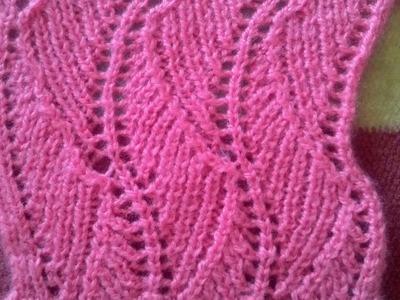 Cardigan. Kurti  Sweater Design No #55 in hindi Knitting