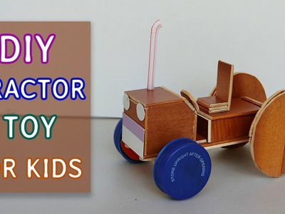 DIY Car toys for kids: Mini Tractor toy #1