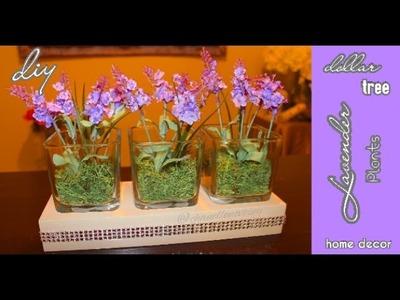 DIY Dollar Tree: Faux Lavender Plants in Glass Vases | Under $10 | Modern Home Decor