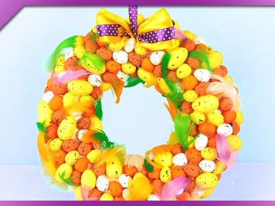 DIY Easter egg wreath (ENG Subtitles) - Speed up #318