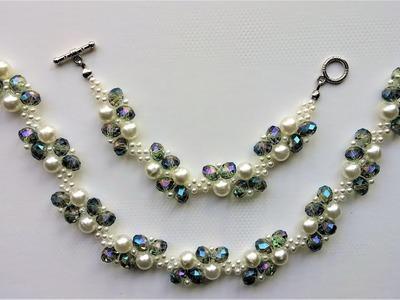 DIY Elegant Beads Bracelet and Necklace.