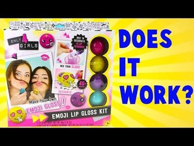 DIY Emoji LIP GLOSS Kit! How to Make Your Own Lip Gloss!