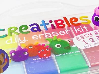 DIY Erasers   Cool Creatibles SET - 12 Colors   DIY Idea