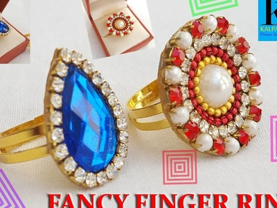 DIY fancy ring: How to make designer party wear ring - made out of paper