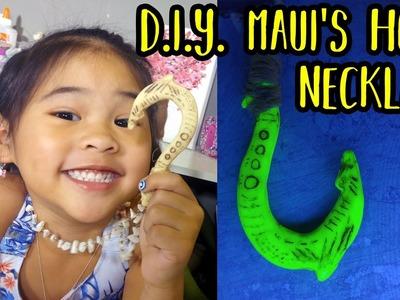 DIY Glowing Maui's Hook Necklace | Disney Moana Crafts