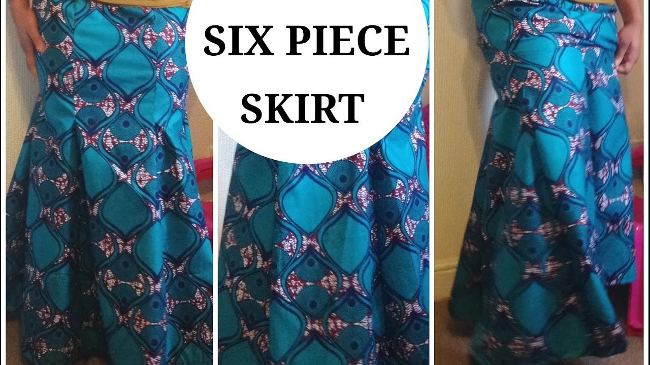 DIY :HOW TO MAKE A SIX PIECE SKIRT  MERMAID SKIRT( EASY SEWING)