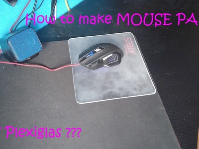 DIY : How to make  light mouse pad?. Kako napraviti svjetlecu podlogu za mis?
