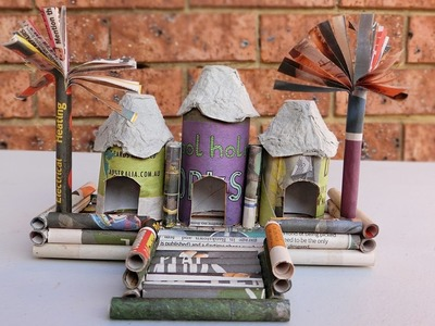 DIY How to make Paper House | Newspaper Crafts