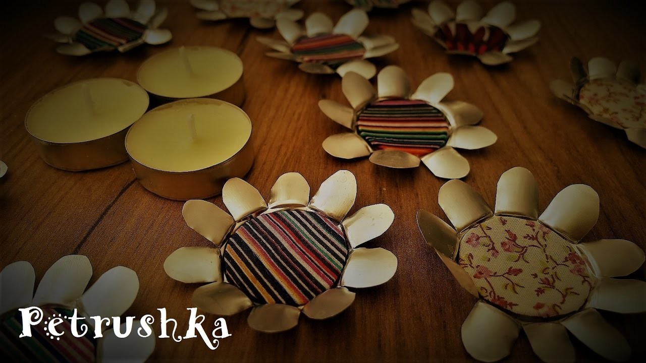 DIY - How to make recycled Tea Lights Flowers