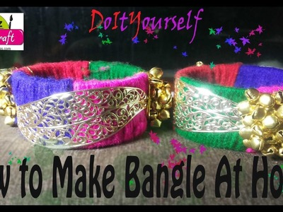 DIY: How To Make woolen Bangle At-Home easy Step By Step