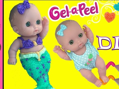 DIY Mermaid Tail Baby Doll with Gel-A-Peel | Gelapeel How To Make A Mermaid Baby | Kids Craft