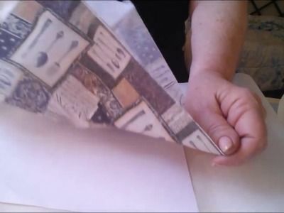 DIY Napkin Fusing for Paper crafts