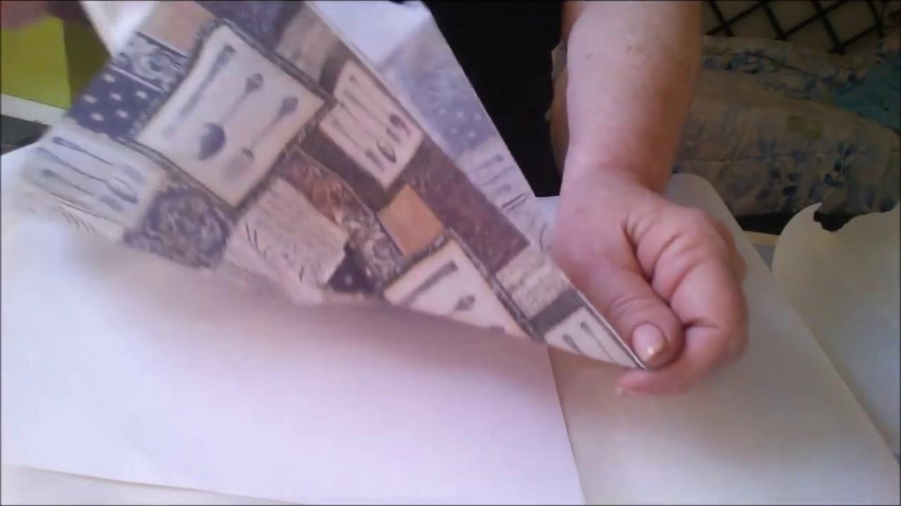 DIY Napkin Fusing for Paper crafts