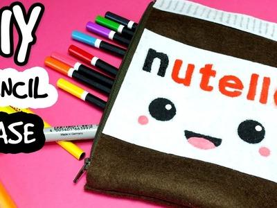 ♡ DIY ♡ NUTELLA PENCIL CASE! How to make no sew kawaii Nutella pencil case