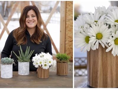 DIY Paint Can Planter.Vase (Full Version). Garden Answer