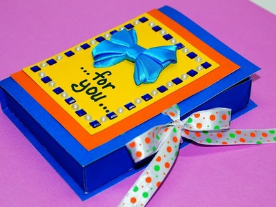 DIY paper crafts idea - gift box making with paper easy. Gift box making. DIY box gift . Julia DIY