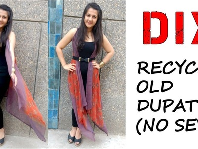 DIY: Recycle Old Dupatta into Shrug (No Sew) || Shirin Talwar