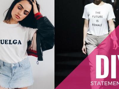 DIY Statement T-Shirt