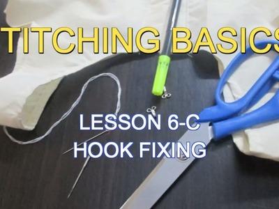 ✔ DIY STITCHING BASICS - LESSON 6-C HOOK FIXING (ஹூக் இணைத்தல்)