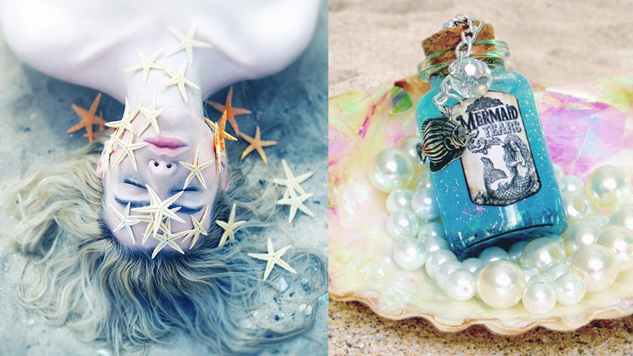 Diy tumblr mermaid ideas for your room room decor for for Mermaid decorations for home