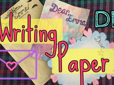DIY WRITING PAPER (3 letter design ideas!) ♡