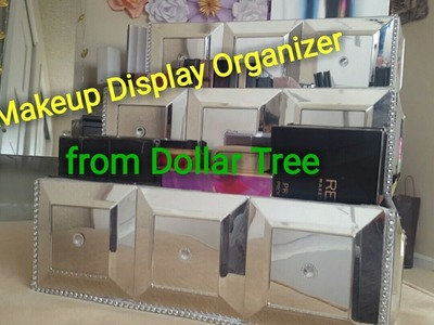 Dollar Tree DIY Glamourous Makeup Display Organizer -  Eyeshadow Palettes Storage Do It Yourself