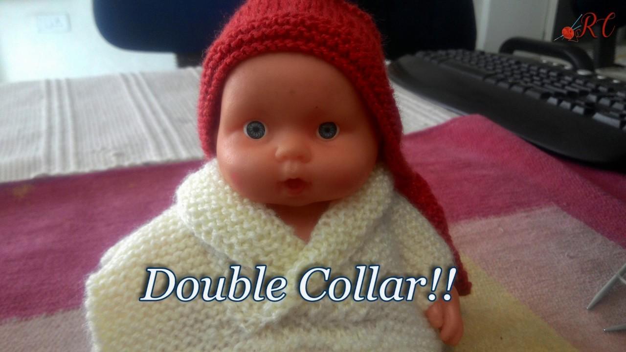 Double Collar Sweater in easy Hindi Knitting (डबल  कालर  कैसे बनाये )