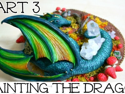 Dragon Sculpture Time Lapse | Part 3: Painting The Dragon | How To Sculpt A Dragon