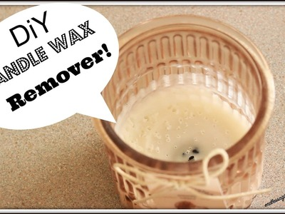 Easiest DiY Way to Remove old Candle Wax from Jar