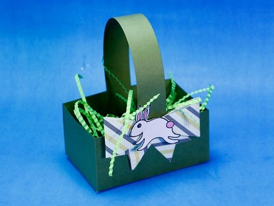 Easter Crafts - How to Make Easter Bunny Basket Super Easy