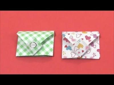 Easy Origami - How to Make Square Envelope 简单手工摺紙 方形信封 簡単折り紙 四角い封筒です