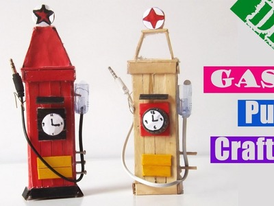 Easy Popsicle Stick Crafts for Kids   DIY Gas Pump Ice Cream Stick 2017