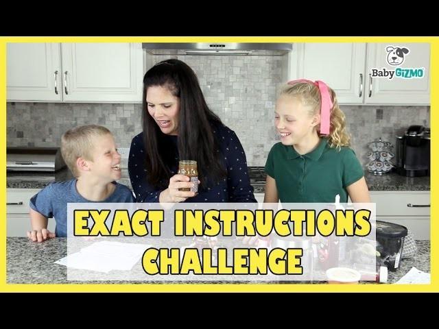 Exact Instructions Challenge | How to Make an Ice Cream Sundae