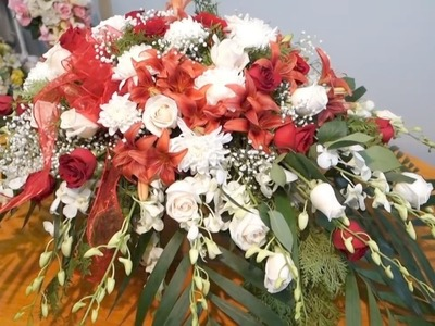 Floral Casket Spray Arrangement DIY