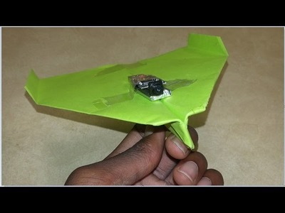 Go-Pro strapped to a Paper Airplane (experiment gone wrong!)