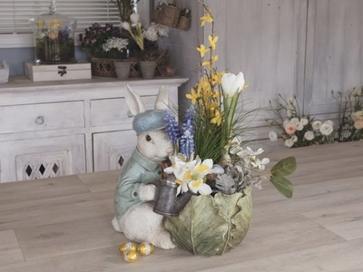 How to create a Peter Rabbit Inspired Easter Floral Arrangement