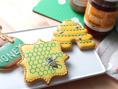 How To Decorate Honey Bee Cookies!