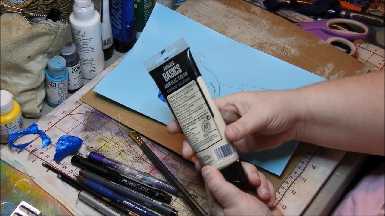 How to do a quick art journal page