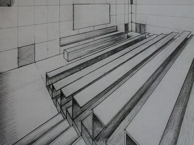 How to draw - Auditorium - Two point perspective