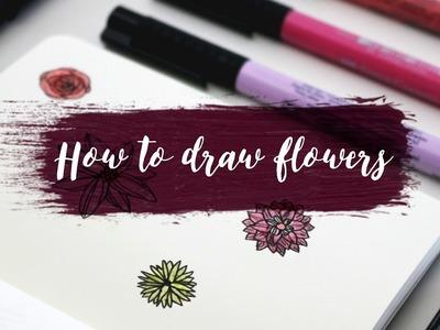 How to draw flowers - botanical illustration (art beginner) | Rayowag