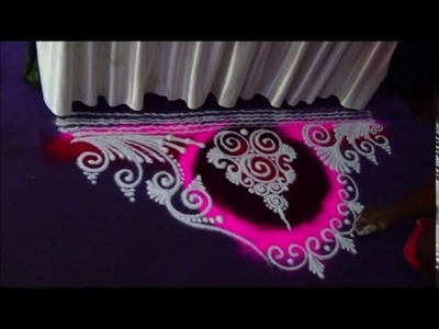 How to draw rangoli in small space Attractive Rangoli Designs Creative rangoli designs