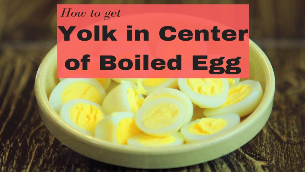 How to keep yolk in center of boiled egg | Kitchen hacks | Yummy+