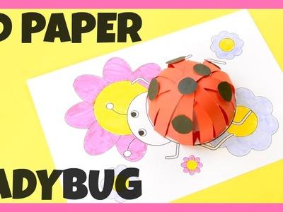 How to Make 3D Paper Ladybug - paper craft idea