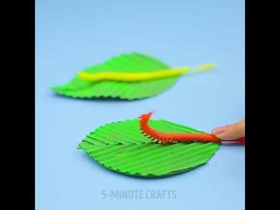 How to make a cute moving caterpillar from straws