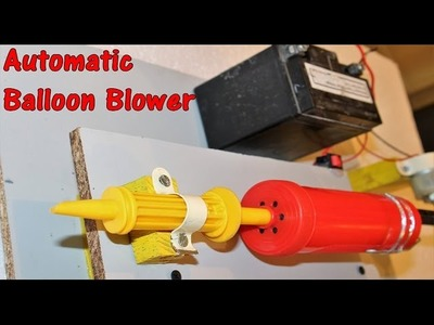 How to make a Electric Balloon Blower.Automatic blower