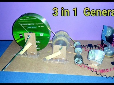 How to make a generator at home- very easy and simple