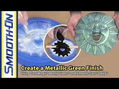 How To Make a Metallic Finish on a Resin Casting Using Cast Magic® Powder