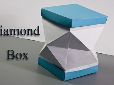 How to Make a Paper Diamond  box ???? Origami Box